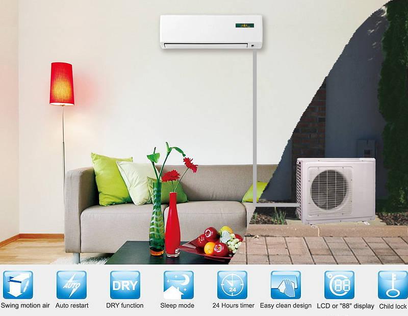 Haier 2 ton mini split air conditioner heat pump a c for Indoor unit design